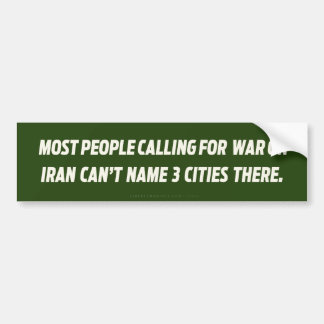 War On Iran Bumper Sticker