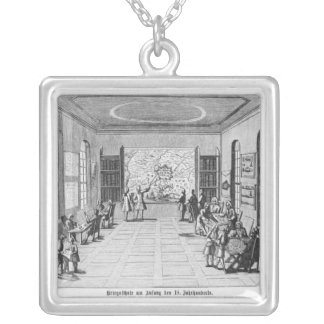 War school silver plated necklace