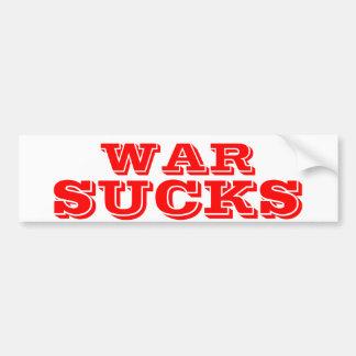 WAR SUCKS BUMPER STICKER