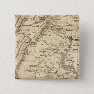 War Telegram Marking Map 15 Cm Square Badge