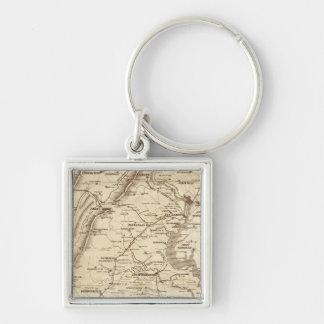 War Telegram Marking Map Key Ring