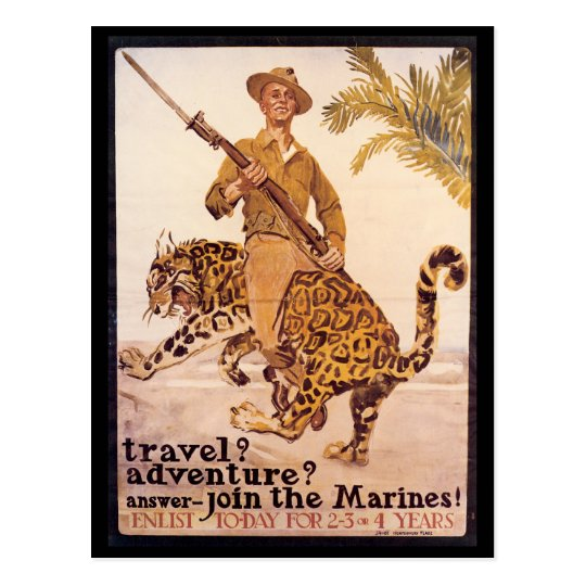 War Time Postcards, World War I Marines Postcard