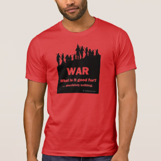 WAR-What is it good for?  Men's red t-shirt 2