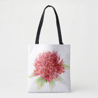 Waratah red flower native Australian plant bag