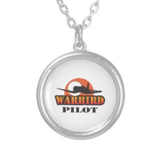 WARBIRD PILOT ROUND PENDANT NECKLACE