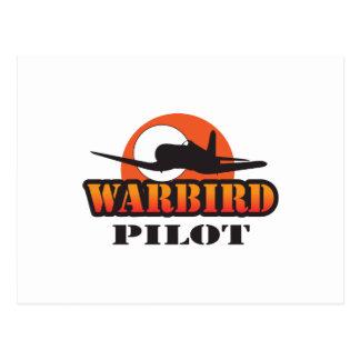 WARBIRD PILOT POSTCARD