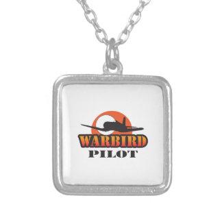 WARBIRD PILOT SQUARE PENDANT NECKLACE