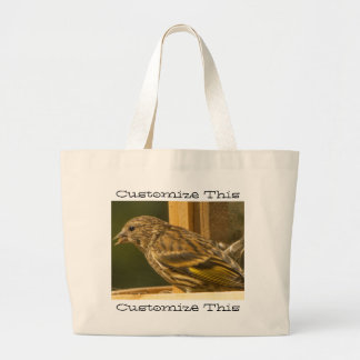 Warbler Chow Time; Customizable Jumbo Tote Bag