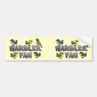 Warbler Fan Bumper Sticker