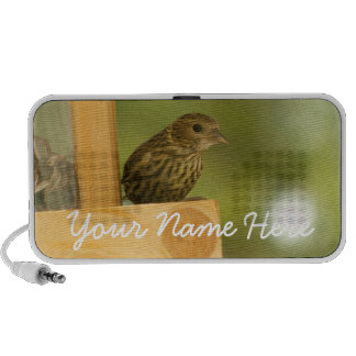 Warbler Having a Snack; Customizable Travel Speakers
