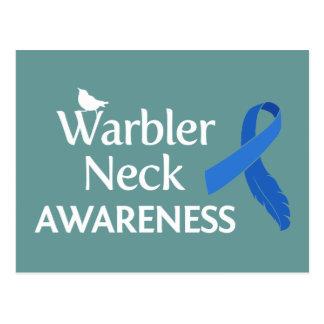 Warbler Neck Awareness Postcard