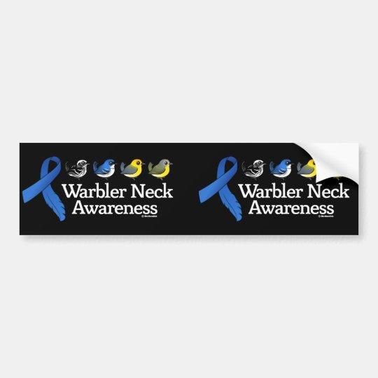 Warbler Neck Awareness Ribbon Bumper Sticker
