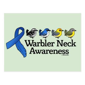 Warbler Neck Awareness Ribbon Postcard
