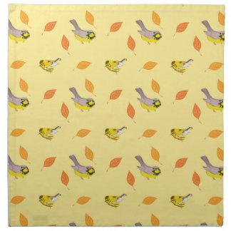 warblers birds cloth napkin