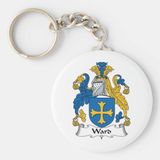 Ward Family Crest Basic Round Button Key Ring