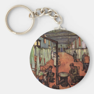 Ward in the Hospital in Arles by Vincent van Gogh Basic Round Button Key Ring