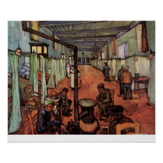 Ward in the Hospital in Arles by Vincent van Gogh Poster