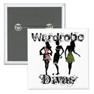 Wardrobe Divas 15 Cm Square Badge