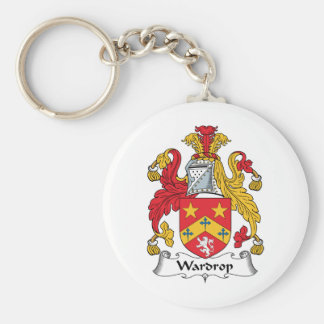 Wardrop Family Crest Basic Round Button Key Ring