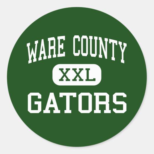 Ware County - Gators - High - Waycross Georgia Classic Round Sticker