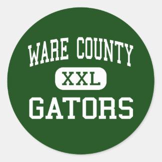 Ware County - Gators - High - Waycross Georgia Round Sticker