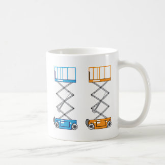 Warehouse lift vector coffee mug