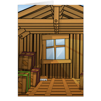 Warehouse Shed Greeting Card