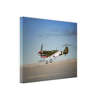 Warhawk P40 Stretched Canvas Print