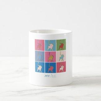 Warhol art style coffee mug
