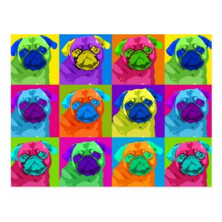 Warhol inspired Pug Postcard