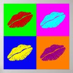 'Warhol lips'  poster