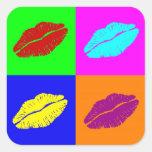 'Warhol lips'  stickers