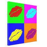 'Warhol lips'  wrapped canvas Canvas Prints