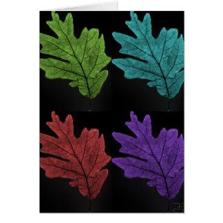 warholesque leaf card