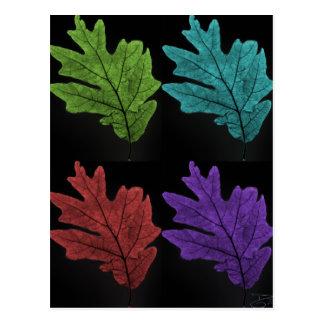 warholesque leaf postcard
