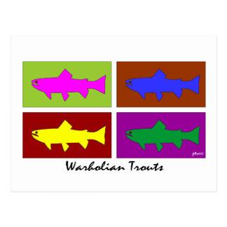 Warholian Trouts Postcards