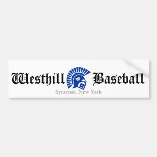 Wariors, Westhill, Baseball, Syracuse, New York Bumper Sticker