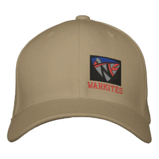 Warkites-left panel embroidered baseball caps