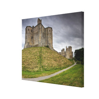 Warkworth Castle in Northumberland, England Canvas Print