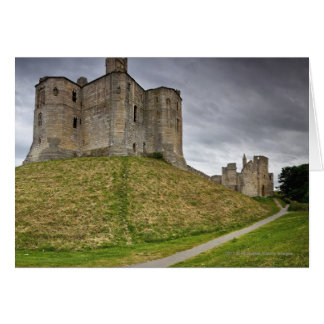 Warkworth Castle in Northumberland, England Card