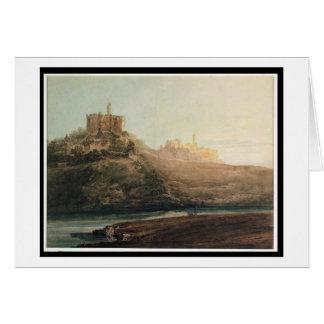 Warkworth Castle, Northumberland, c.1798 (w/c, gou Card
