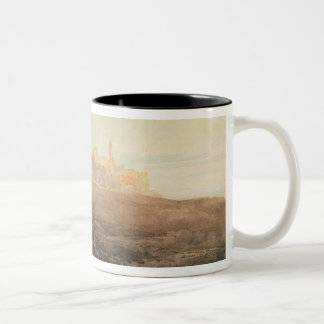 Warkworth Castle, Northumberland, c.1798 (w/c, gou Two-Tone Coffee Mug