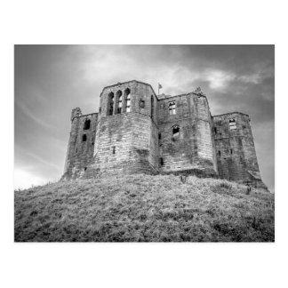 Warkworth Castle, Northumberland, postcard
