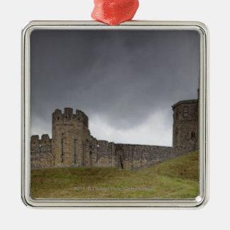 Warkworth Castle Silver-Colored Square Decoration