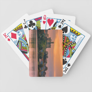 Warkworth Village and Castle at sunset Bicycle Playing Cards