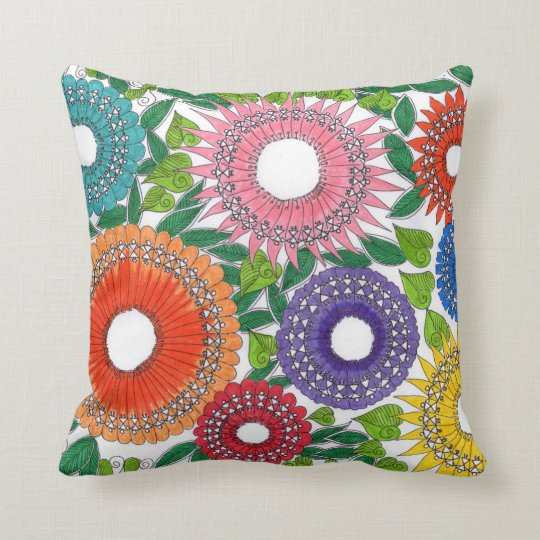 Warli flower patterned pillows