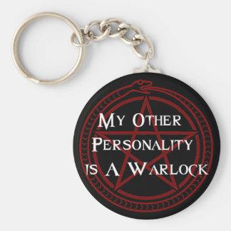 Warlock Basic Round Button Key Ring