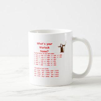 warlock name coffee mug