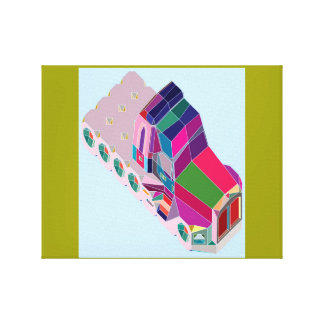 Warlong-Haul Conventional Cab Space Truckers Gallery Wrapped Canvas