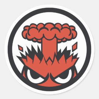 Warlord Rage Round Sticker